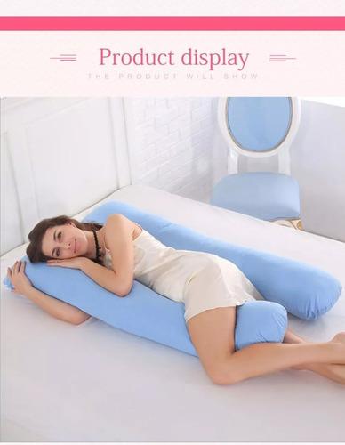 almohada para embarazo y lactanciaestampado de rayas (1mx75)