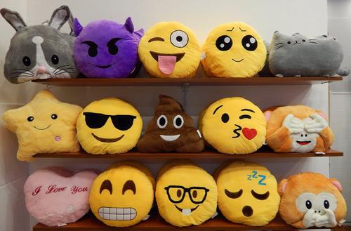 almohada peluche emoticones emoji caritas 35 cm fotos reales