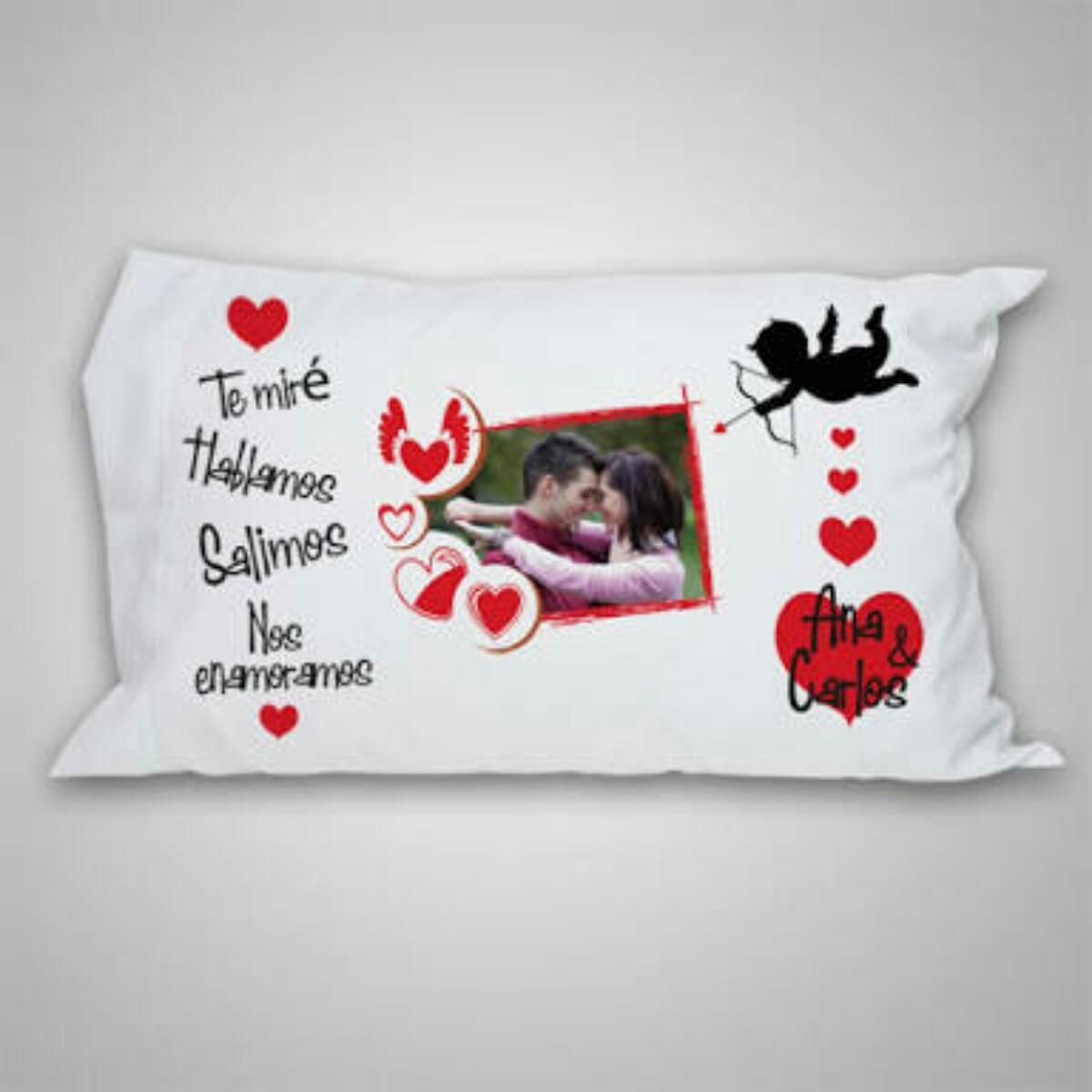 Almohada personalizada enamorados san valent n regalos s 35 00 en mercado libre - Cojines con tu foto ...