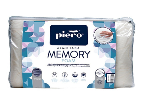 almohada piero memory foam espectacular