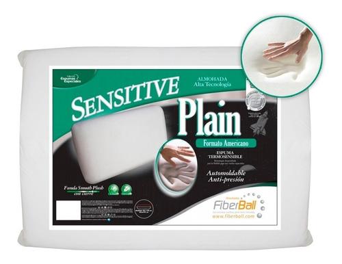 almohada sensitive x4 viscoelástica plain 63x35x15