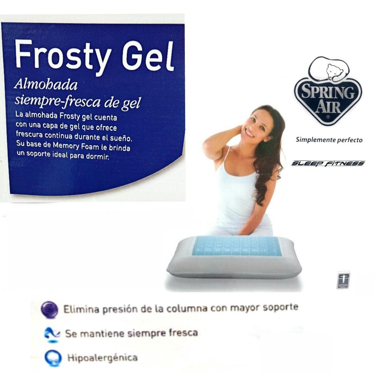 Almohada Spring Air Memory Foam Frosty Gel 690 00 En