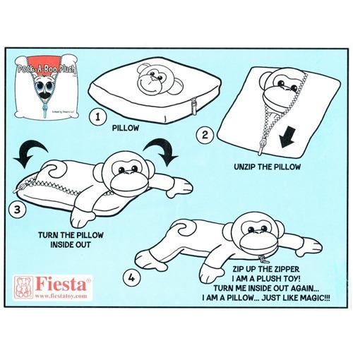 almohada transformable en oso panda de peluche - fiesta toy