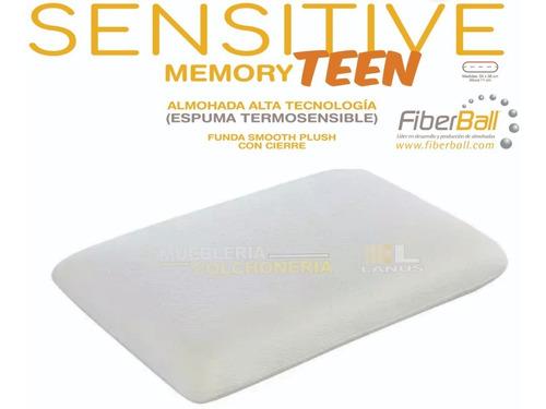 almohada viscoelastica inteligente sensitive teen con funda