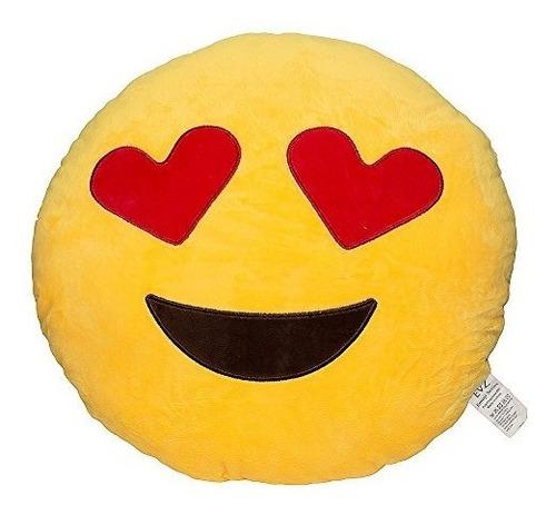 almohadas de felpa,evz 32cm emoji emoticon sonriente ama..