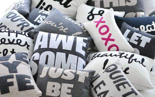 almohadas decorativas: personalizables