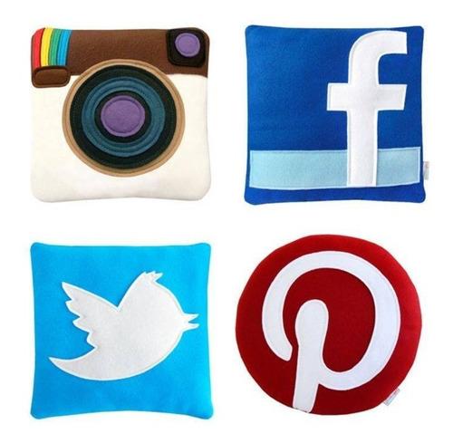 almohadas decorativas:  redes sociales