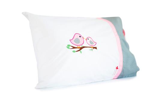 almohadas orgánicas para niños - hipoalergénica 100% algodón