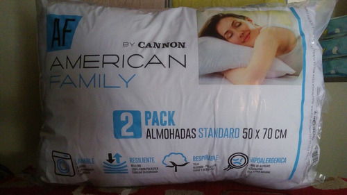 almohadas pack cannon - x4 almohadas