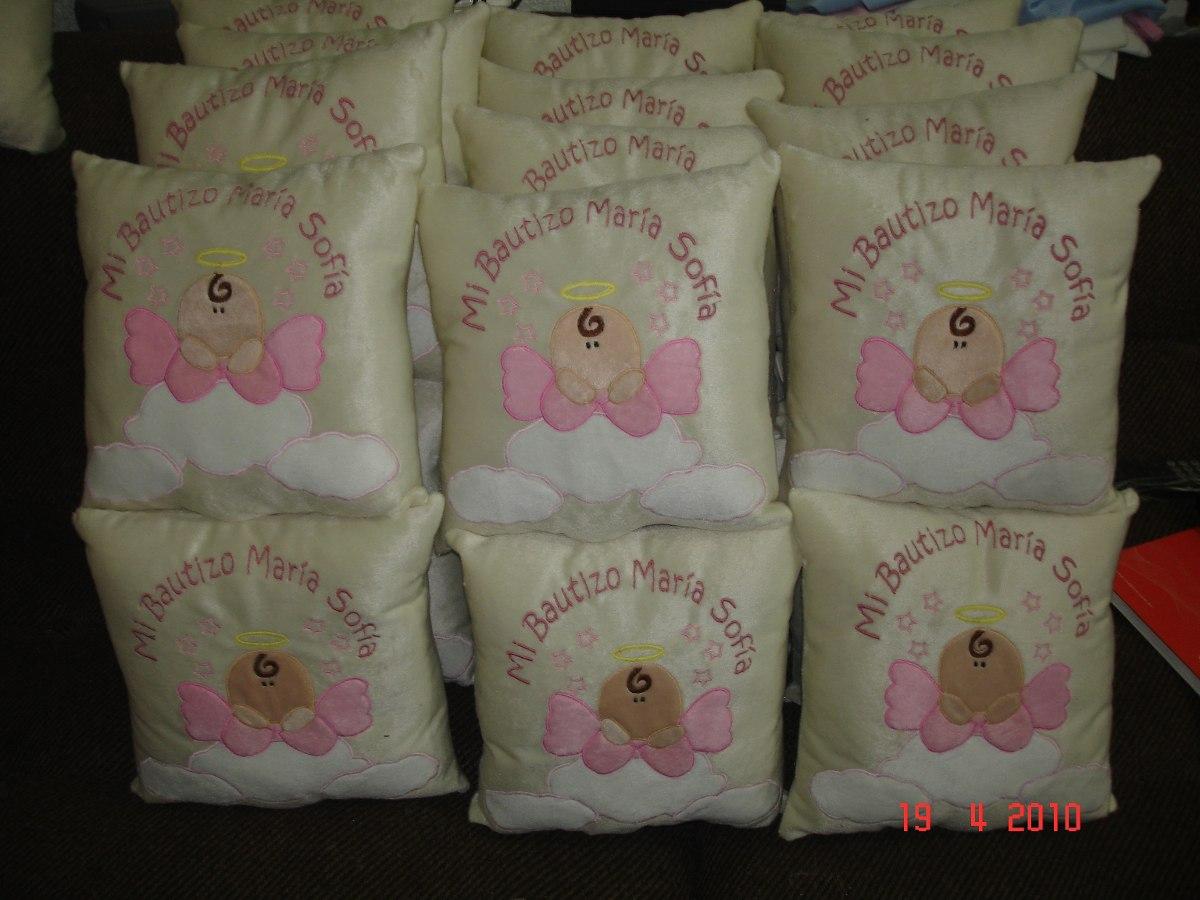 Almohadas Para Recuerdos Para Bautizo --- Personalizados ...