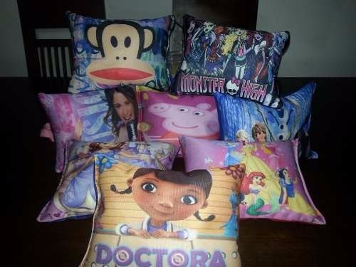almohadas personalizadas para fiesta infantil