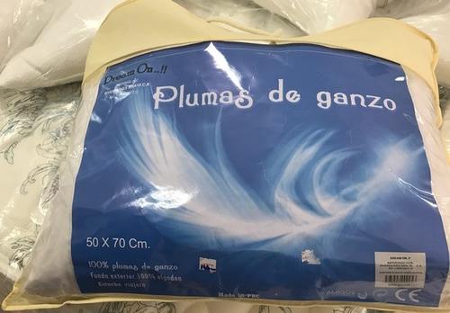 almohadas plumas de ganso 50 x 70 cm