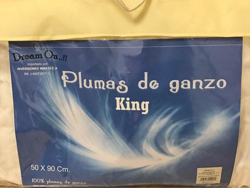almohadas plumas de ganzo 50 x 90 cm king oferta