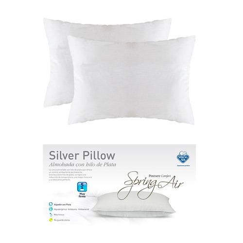 almohadas spring air 2x1 silver pillow antiestres