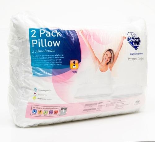 almohadas spring air pack 2 pillow posture comfort antiácaro