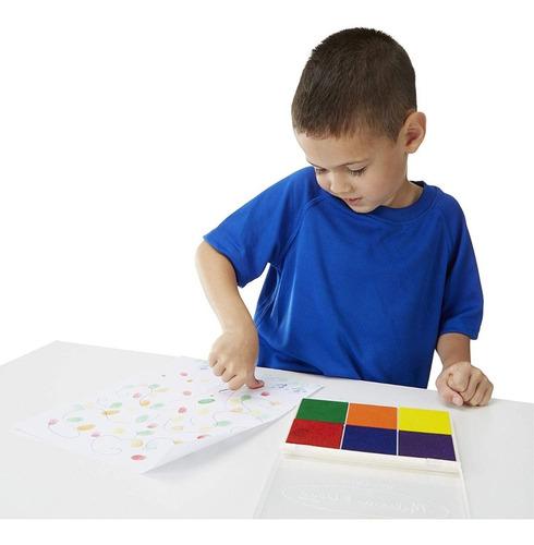 almohadilla de tinta arco iris para sellos, arte manualidad