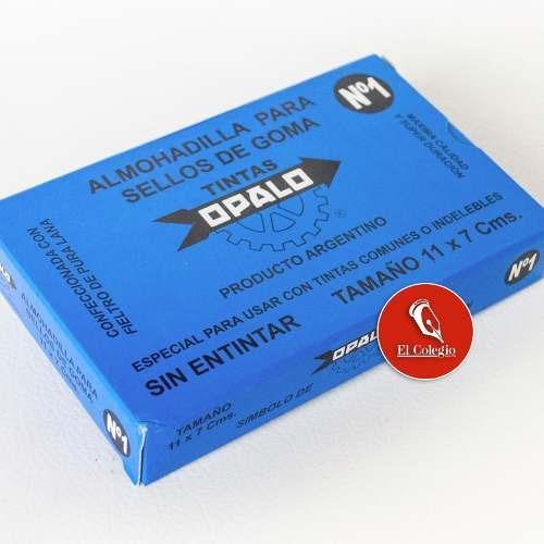 almohadilla fieltro opalo n°1 sellos tinta indeleble 11x7cm