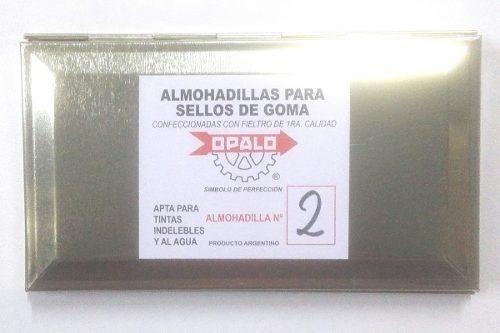 almohadilla n°2 fieltro opalo sellos t. indeleble 9 x 16 cm