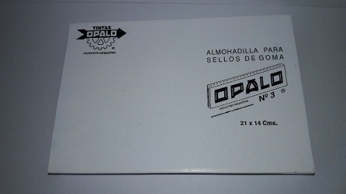 almohadilla n°3 fieltro opalo sellos t. indeleble 21 x 14 cm