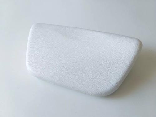 almohadilla para bañera hidromasaje blanca con ventosas
