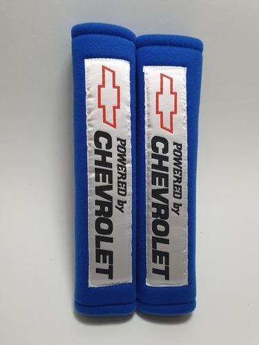 almohadillas cinturón seguridad powered by chevrolet azul