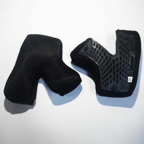 almohadillas mejilla fox racing v3 adulto repuesto negro sm