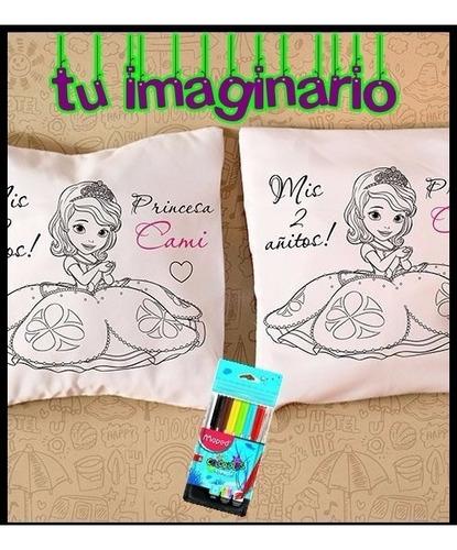 almohadón 30x30 cm-c/relleno- para pintar!! souvenirs x10