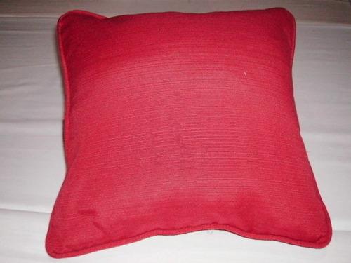 almohadon 40 x 40 cm en tela madras con cierre soul