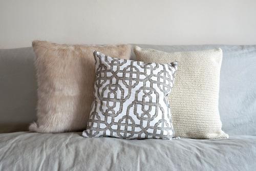 almohadón 40x40cm tejido crochet