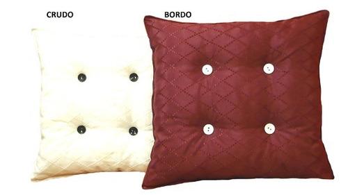 almohadon 60x60x15cm p/sillón con 4 botones forrados!