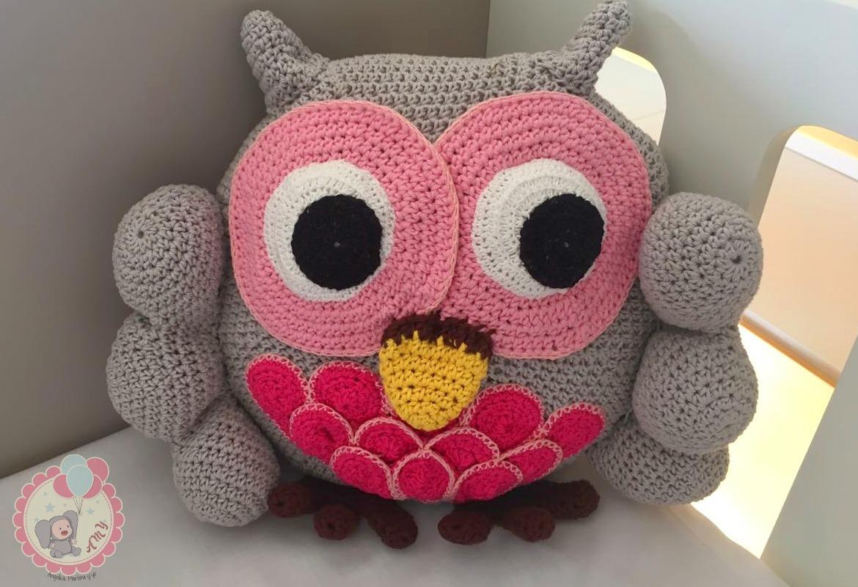 Almohadón Amigurumi Buho Artesanal Al Crochet - $ 650,00 en Mercado ...
