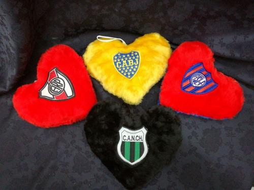 almohadon corazón fútbol boca,  chicago y san lorenzo
