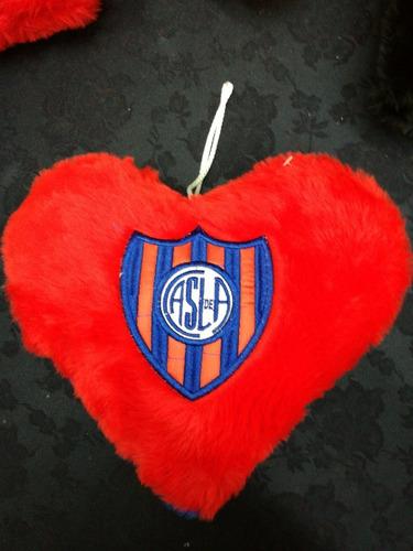 almohadon corazón fútbol boca, river, chicago y san lorenzo