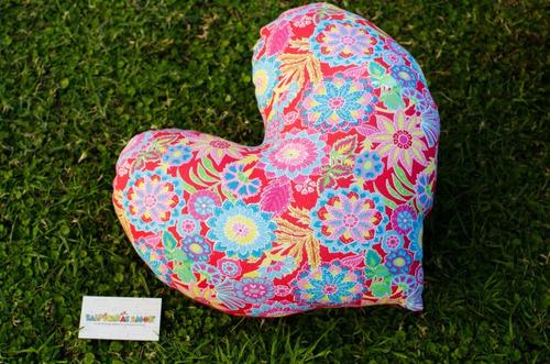 almohadon corazon grande vellon tela regalo dia de la madre