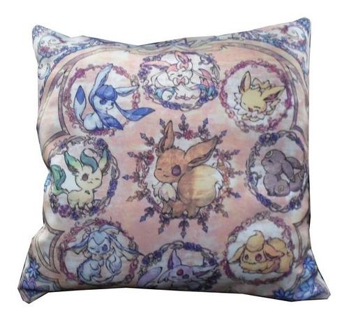 almohadón de anime - pokemon las evoluciones de eevee