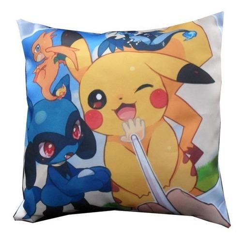 almohadón de anime - pokemon pikachu charmander