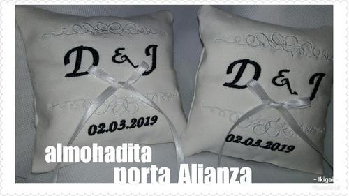 almohadon de boda - porta alianza