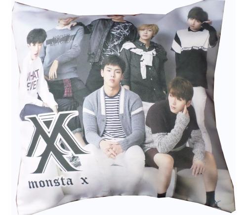 almohadón de k-pop monsta x kpop