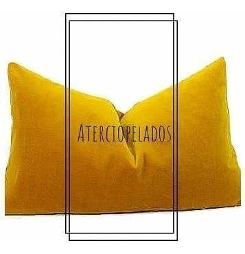 almohadon de terciopelo importado rectangular