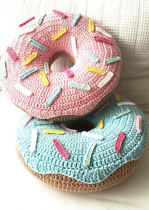 Almohadon Dona Donuts Tejido A Crochet - $ 500,00 en Mercado Libre