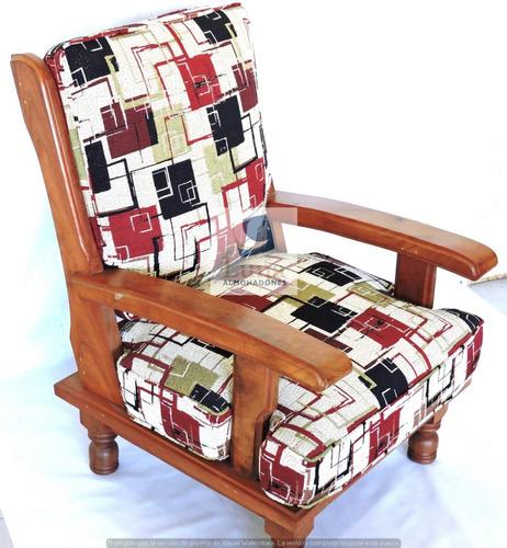 almohadon en placa para sillon algarrobo a medida (precio por c/uno)