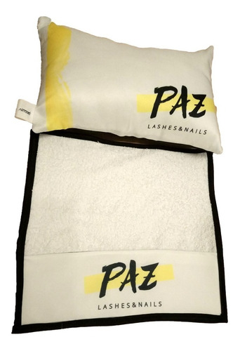 almohadon manicura accesorio esteticas con logo insumo spa
