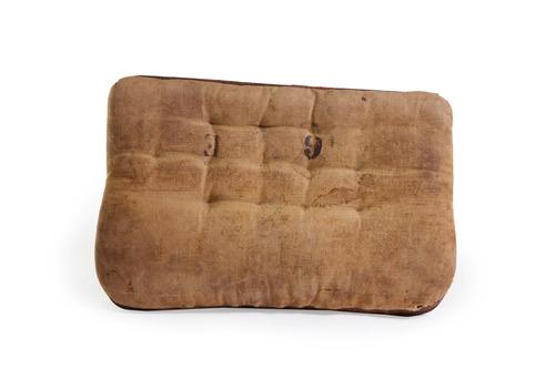 almohadon militar cuero y tela original [bror]