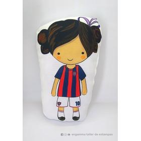Almohadon Nena Futbol San Lorenzo Personalizado Para Regalo