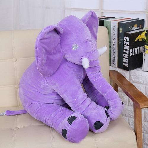 almohadón nidito grande contenedor elefante color violeta