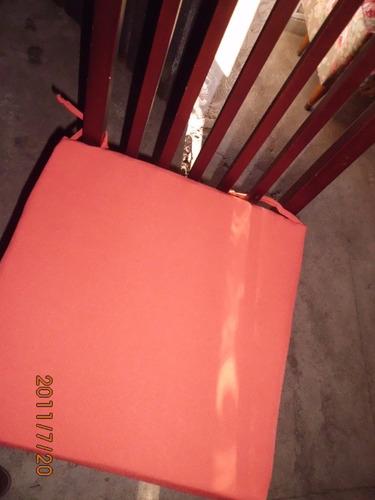 almohadon  plancha polyfon para sillas todos los colores