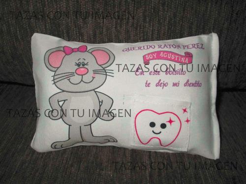 almohadón ratón pérez hada con bolsillo dientes personalizad