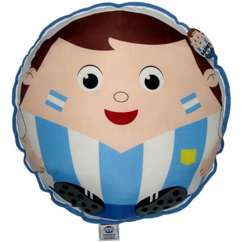 almohadón redondo infantil fútbol argentina