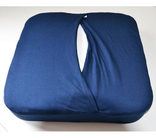 almohadón silla de ruedas de espuma viscoelastica con funda