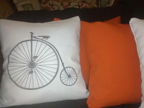 almohadon sillon palet bici antigua vintage bicicleta